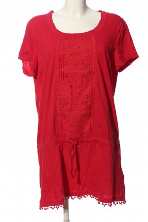 Tom Tailor Kurzarm-Bluse rot Casual-Look