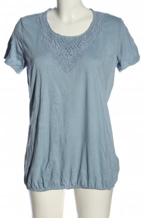 Tom Tailor Kurzarm-Bluse blau Casual-Look