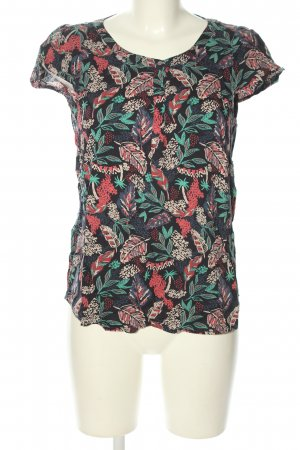 Tom Tailor Kurzarm-Bluse Allover-Druck Casual-Look
