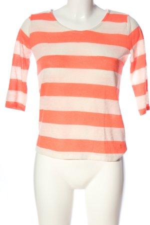 Tom Tailor Kurzarm-Bluse pink-creme Streifenmuster Casual-Look