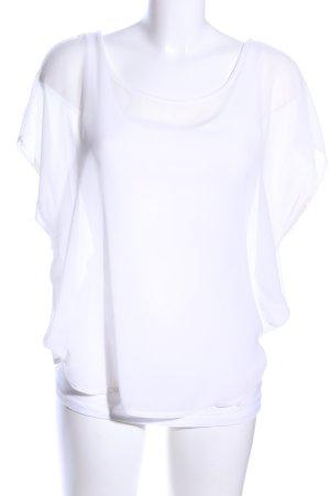 Tom Tailor Kurzarm-Bluse weiß Casual-Look