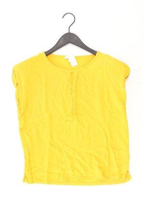 Tom Tailor Kurzarmbluse Größe S gelb aus Viskose