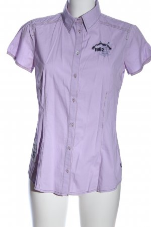 Tom Tailor Kurzarmhemd lila Motivdruck Casual-Look