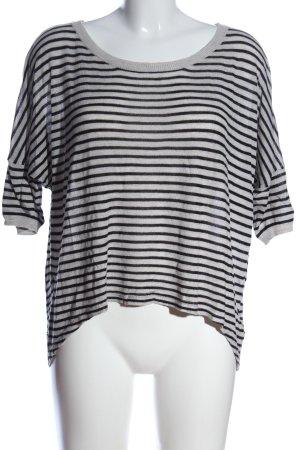 Tom Tailor Kurzarmpullover weiß-schwarz Streifenmuster Casual-Look