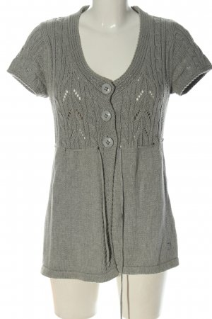 Tom Tailor Short Sleeve Knitted Jacket light grey casual look