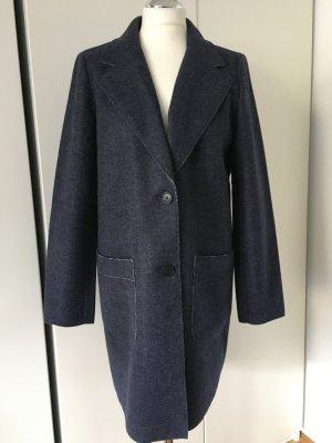 Tom Tailor Manteau court gris ardoise-bleu fibre synthétique
