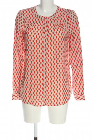 Tom Tailor Langarm-Bluse creme-rot Punktemuster Casual-Look
