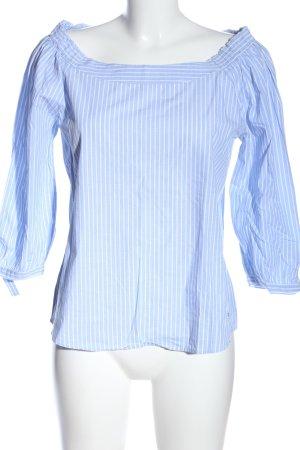 Tom Tailor Langarm-Bluse blau-weiß Streifenmuster Casual-Look