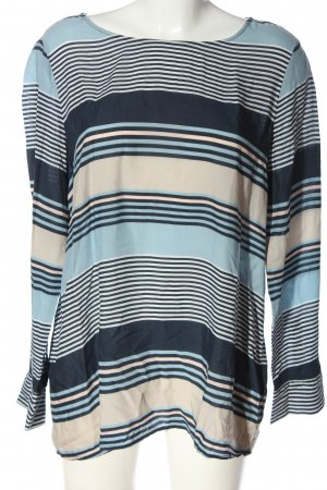 Tom Tailor Langarm-Bluse blau-wollweiß Streifenmuster Casual-Look