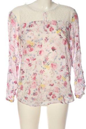Tom Tailor Langarm-Bluse Blumenmuster Casual-Look