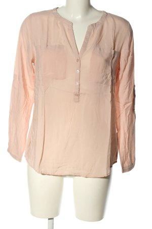 Tom Tailor Langarm-Bluse pink Business-Look