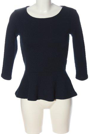 Tom Tailor Langarm-Bluse blau Casual-Look