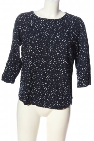 Tom Tailor Langarm-Bluse abstraktes Muster Casual-Look