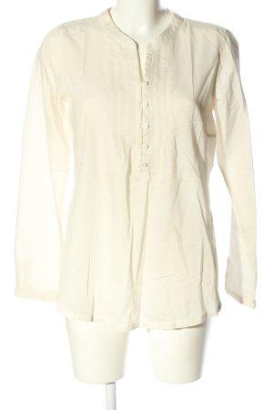 Tom Tailor Langarm-Bluse blassgelb Casual-Look