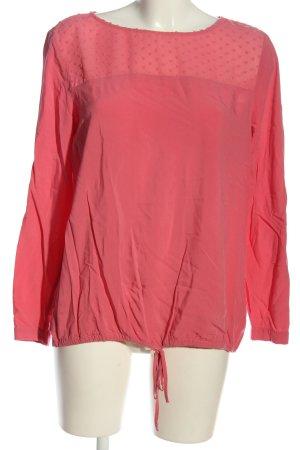 Tom Tailor Langarm-Bluse pink klassischer Stil