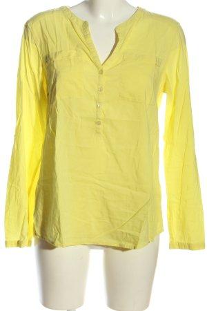 Tom Tailor Langarm-Bluse blassgelb klassischer Stil