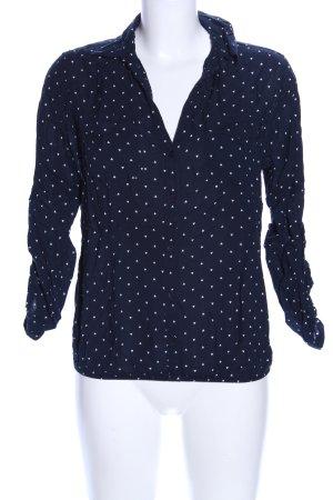 Tom Tailor Langarm-Bluse blau-weiß Punktemuster Business-Look