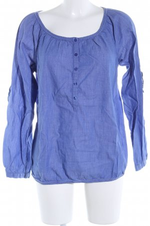 Tom Tailor Langarm-Bluse blau Webmuster Business-Look