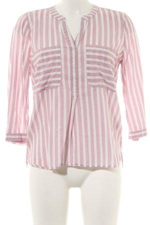 Tom Tailor Langarm-Bluse pink-weiß Streifenmuster Casual-Look