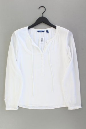 Tom Tailor Langarmbluse Größe 38 weiß aus Polyester
