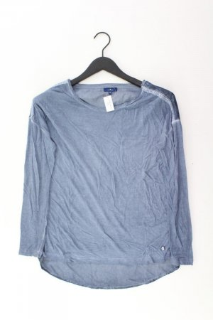 Tom Tailor Langarmbluse Größe S blau aus Viskose
