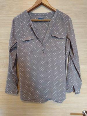 Tom Tailor Blusa de manga larga marrón grisáceo-crema