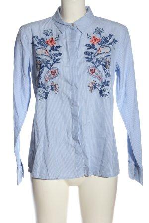 Tom Tailor Langarmhemd weiß-blau Streifenmuster Casual-Look