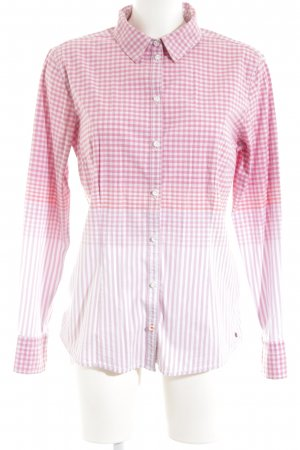 Tom Tailor Langarmhemd pink-weiß Allover-Druck Casual-Look