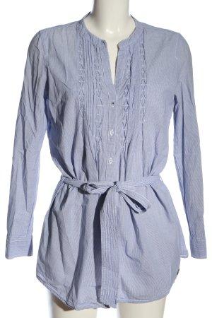 Tom Tailor Langarmhemd blau-weiß Allover-Druck Elegant