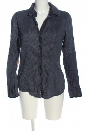 Tom Tailor Langarmhemd schwarz-blau Allover-Druck Business-Look