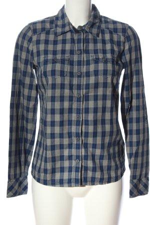 Tom Tailor Langarmhemd blau-hellgrau Karomuster Casual-Look