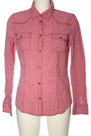Tom Tailor Langarmhemd rot Karomuster Casual-Look