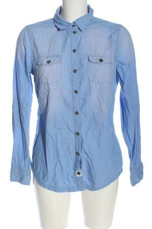 Tom Tailor Langarmhemd blau Casual-Look
