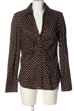 Tom Tailor Langarmhemd braun-wollweiß Allover-Druck Business-Look