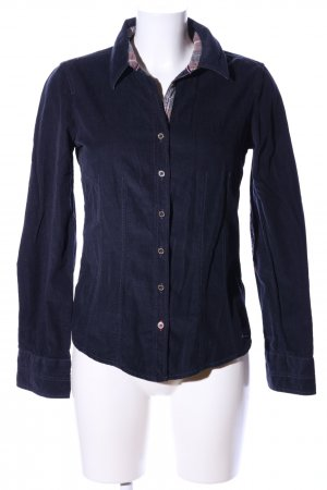 Tom Tailor Langarmhemd blau-lila Casual-Look