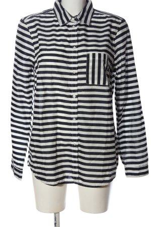 Tom Tailor Langarmhemd schwarz-weiß Allover-Druck Business-Look