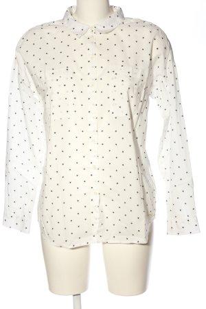 Tom Tailor Langarmhemd weiß-schwarz Allover-Druck Casual-Look
