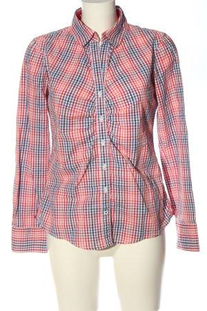 Tom Tailor Langarmhemd rot-blau Allover-Druck Casual-Look