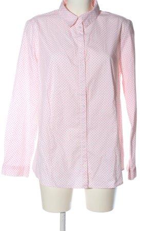 Tom Tailor Langarmhemd weiß-pink Allover-Druck Casual-Look