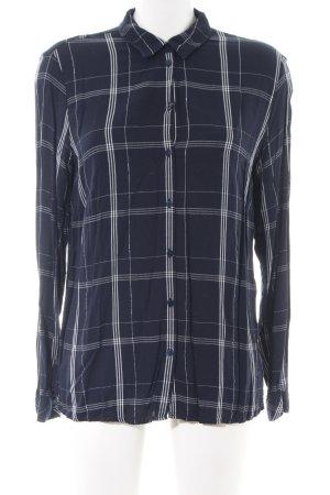 Tom Tailor Langarmhemd blau-weiß Karomuster Casual-Look