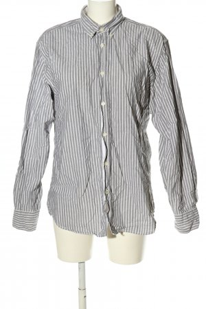 Tom Tailor Langarmhemd hellgrau-weiß Streifenmuster Business-Look
