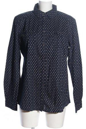 Tom Tailor Langarmhemd schwarz-wollweiß Allover-Druck Business-Look