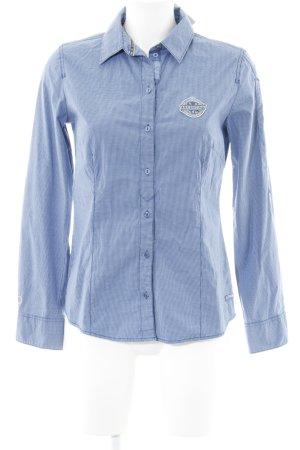 Tom Tailor Langarmhemd dunkelblau Karomuster Casual-Look