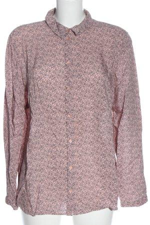 Tom Tailor Langarmhemd pink-schwarz Allover-Druck Casual-Look