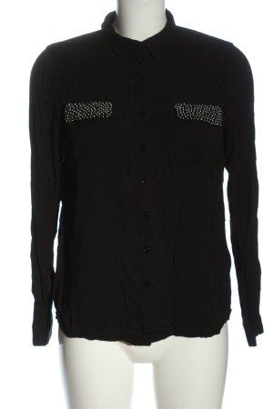 Tom Tailor Langarmhemd schwarz Casual-Look