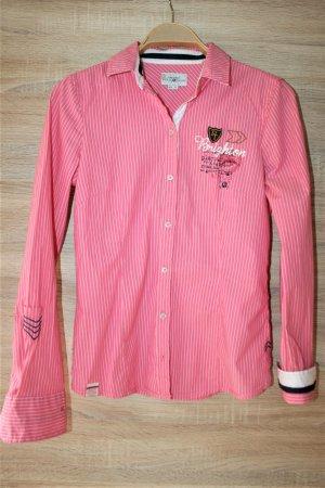 Tom Tailor Langarmhemd pink-weiß Schriftzug gedruckt Casual-Look gr.36 wie neu!