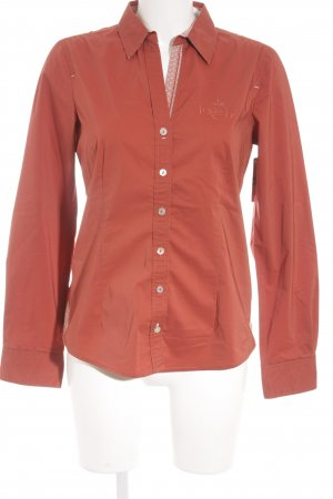 Tom Tailor Langarmhemd rostrot Punktemuster Vintage-Artikel