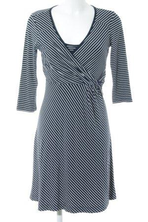 Tom Tailor Langarmkleid schwarz-weiß Streifenmuster Business-Look