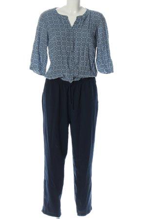 Tom Tailor Langer Jumpsuit blue-black allover print casual look