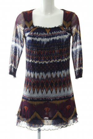 Tom Tailor Long-Bluse Ikatmuster Hippie-Look